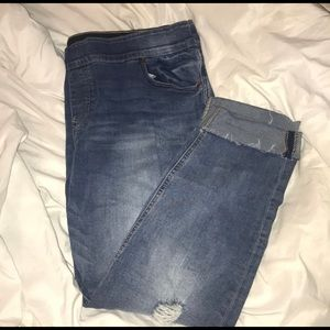 Plus size pull on jeggings